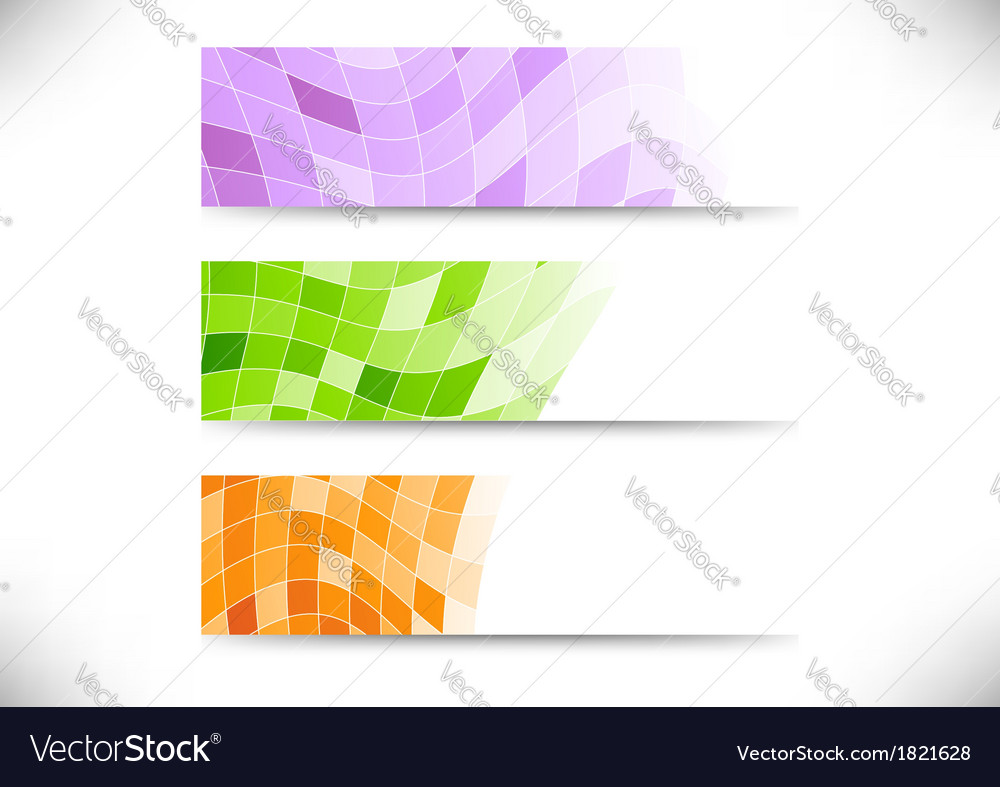 Collection of geometrical headers vector | Price: 1 Credit (USD $1)