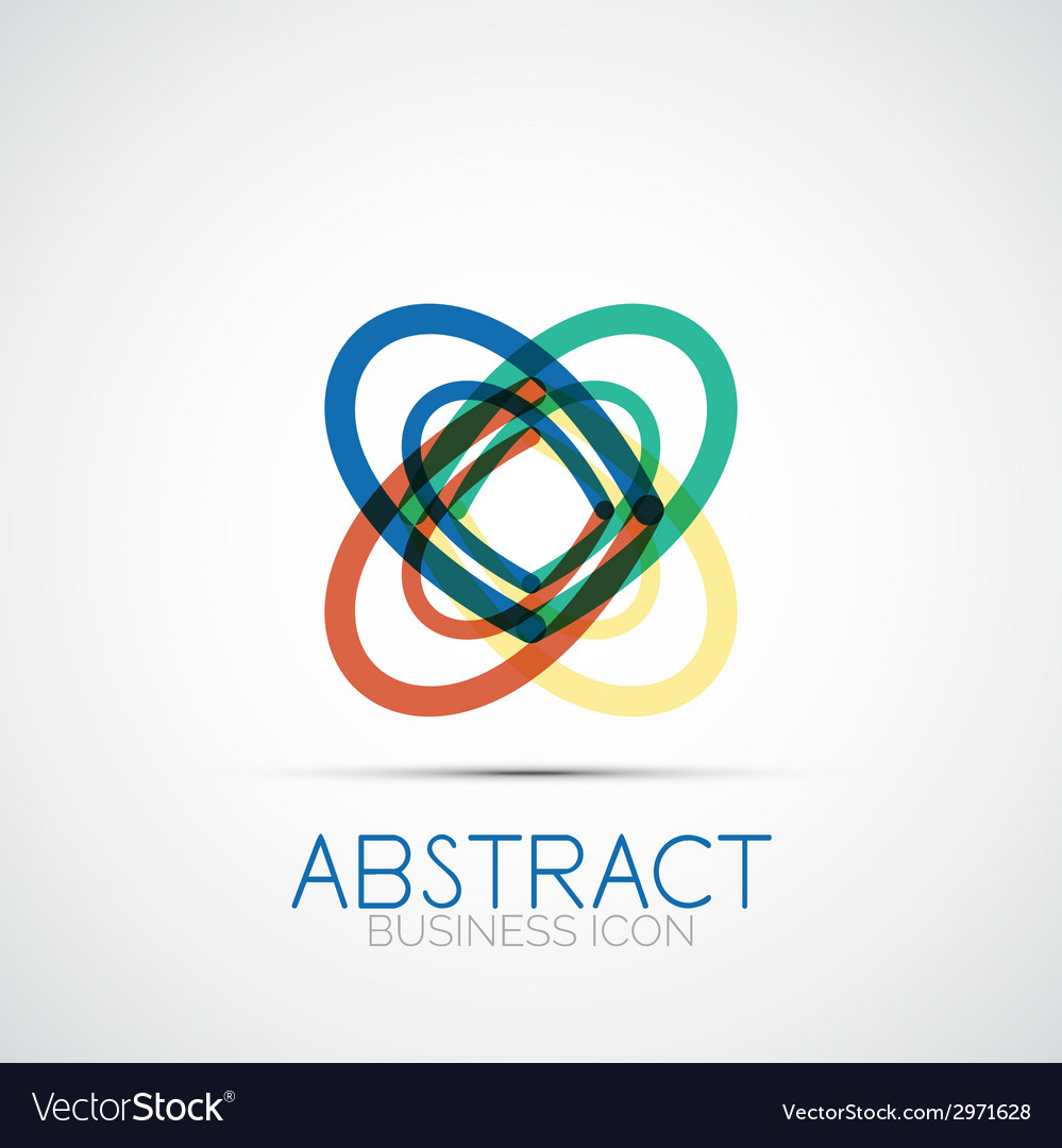 Line design loop logo vector | Price: 1 Credit (USD $1)