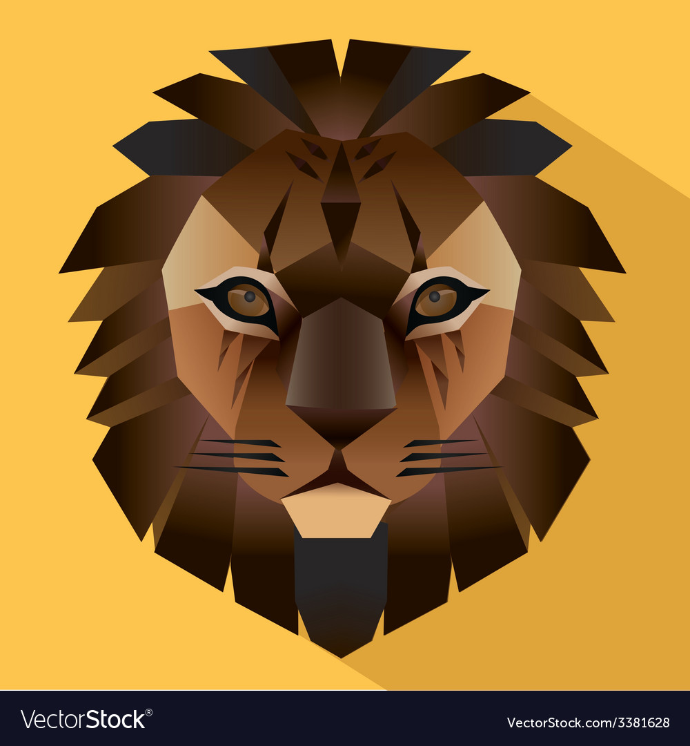 Lion face icon vector | Price: 1 Credit (USD $1)