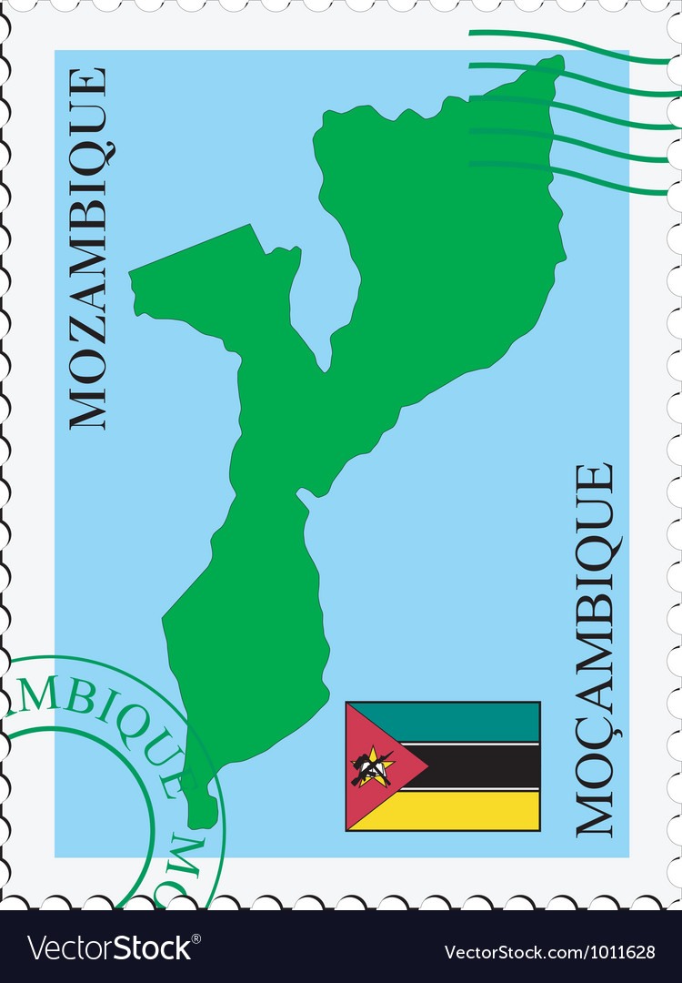 Mail to-from mozambique vector | Price: 1 Credit (USD $1)