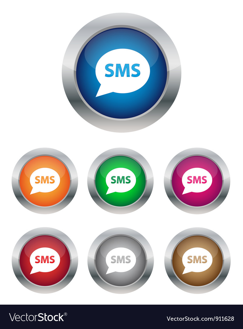 Sms buttons vector | Price: 1 Credit (USD $1)