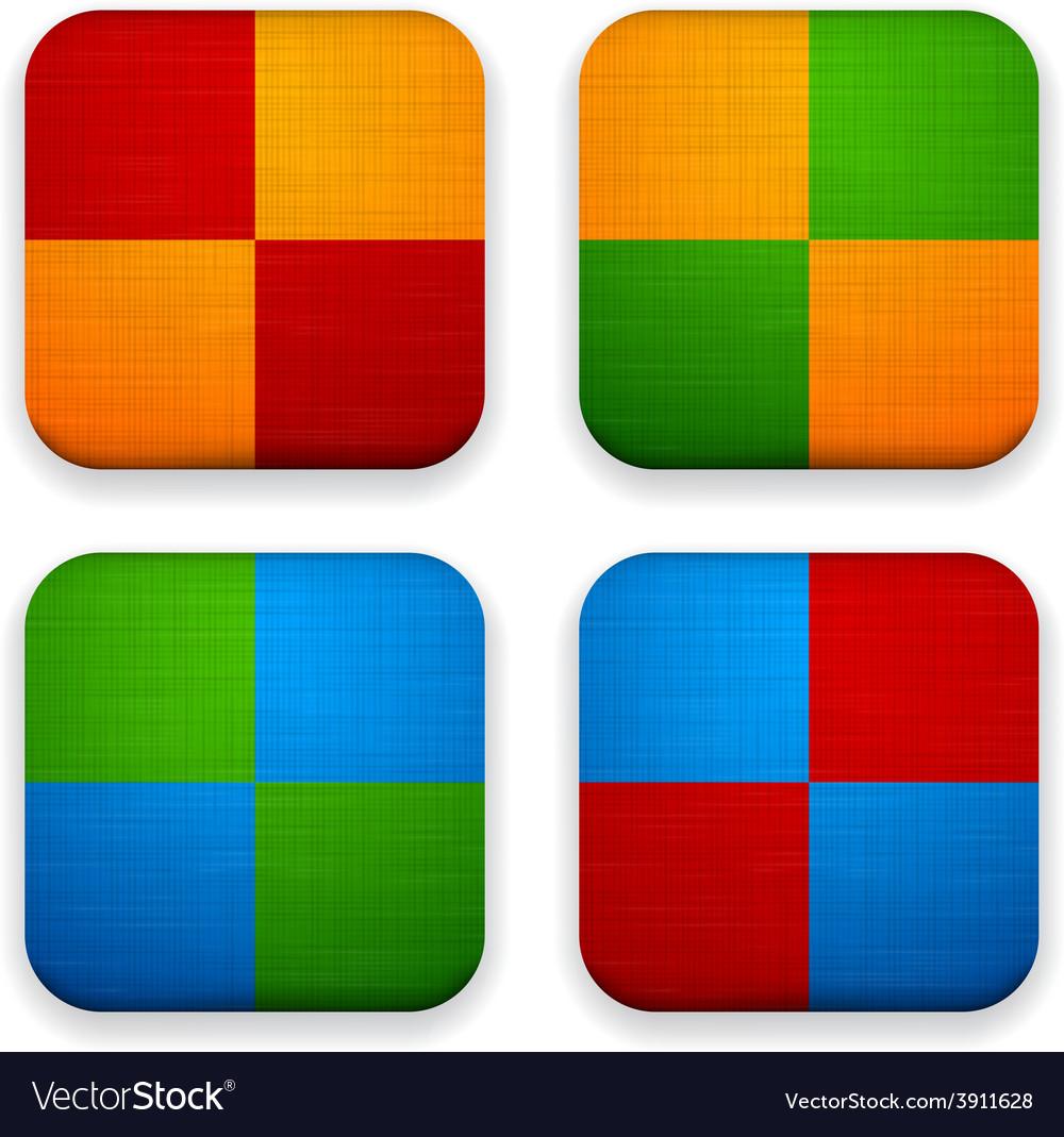 Web linen app icons vector | Price: 1 Credit (USD $1)