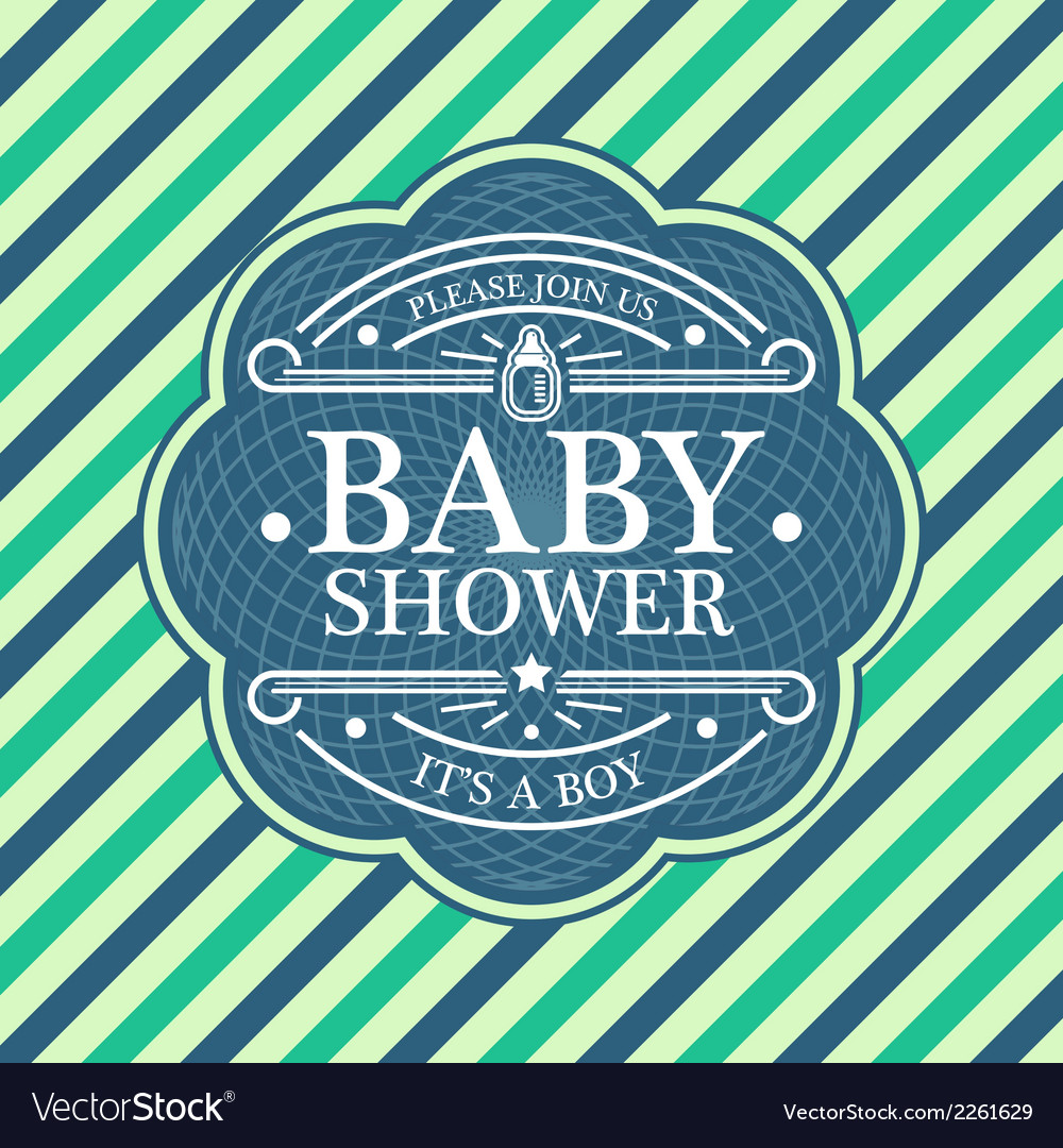 Baby shower emblem vector | Price: 1 Credit (USD $1)