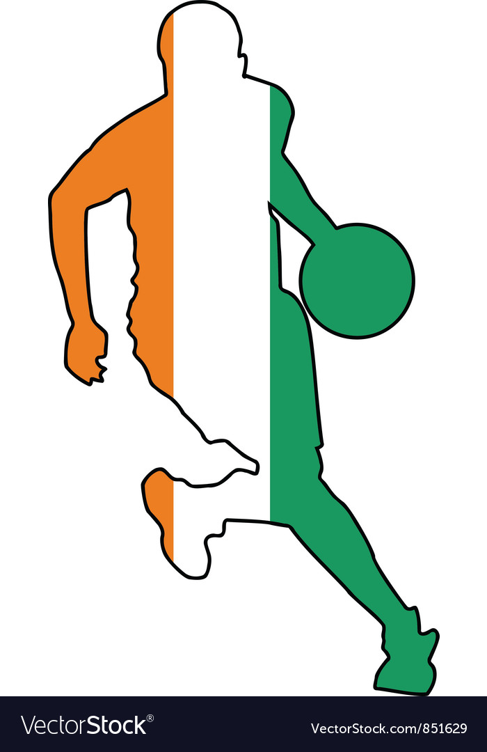 Basketball colors of ivory coast vector | Price: 1 Credit (USD $1)