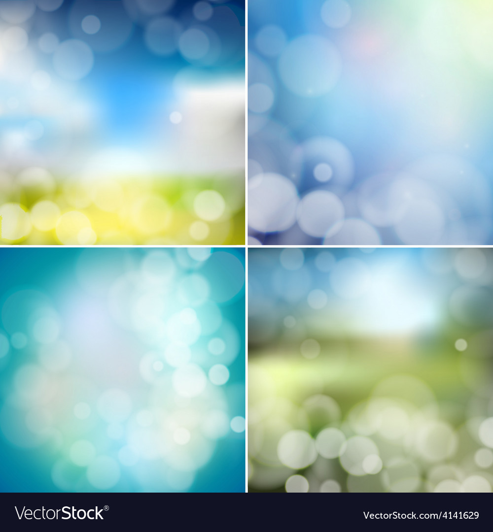 Big set of blurry backgrounds with bokeh effect vector | Price: 1 Credit (USD $1)