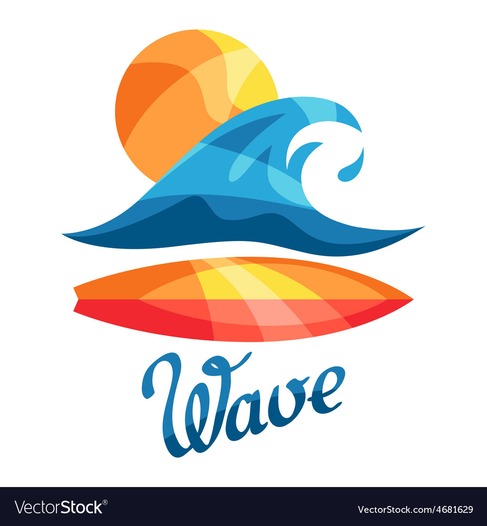 Bright surfing or print for t-shirts vector | Price: 1 Credit (USD $1)