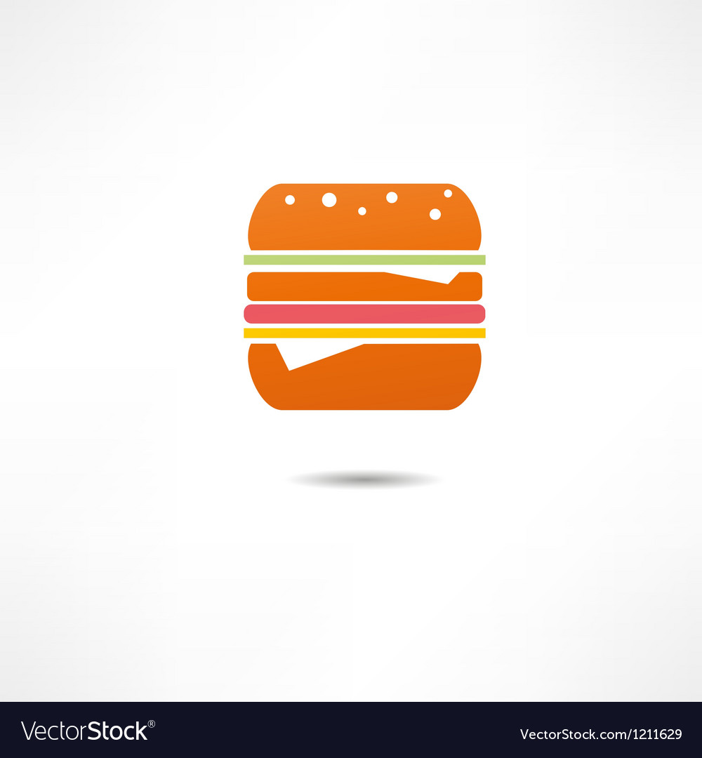 Burger icon vector | Price: 1 Credit (USD $1)