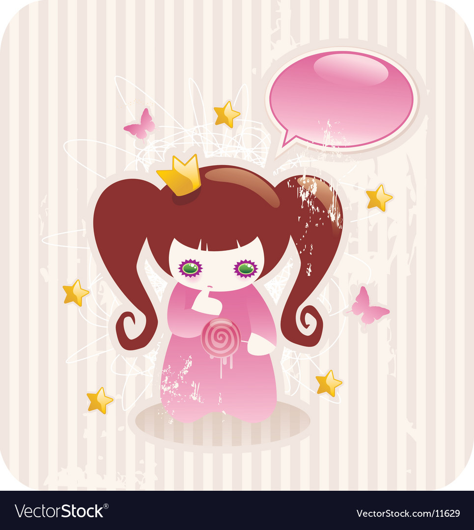 Cartoon princess vector | Price: 3 Credit (USD $3)
