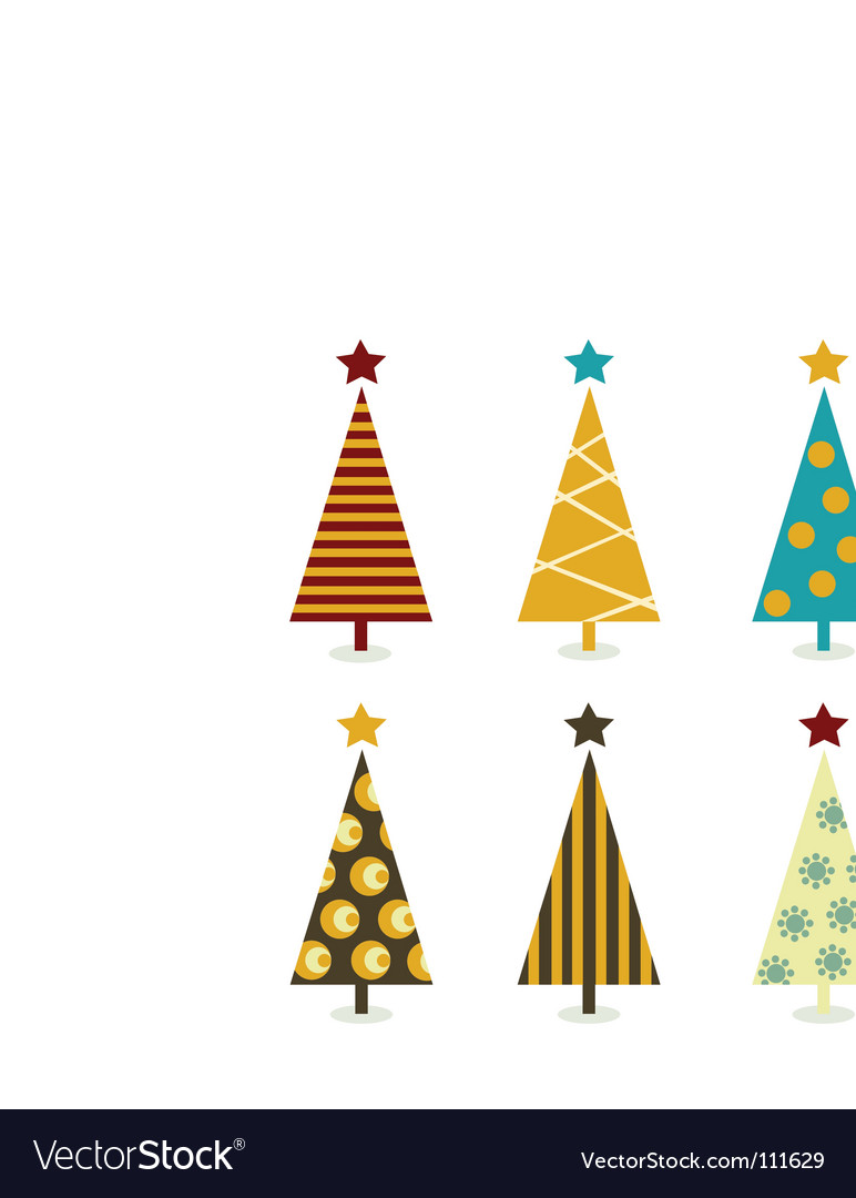 Christmas tree elements vector | Price: 1 Credit (USD $1)