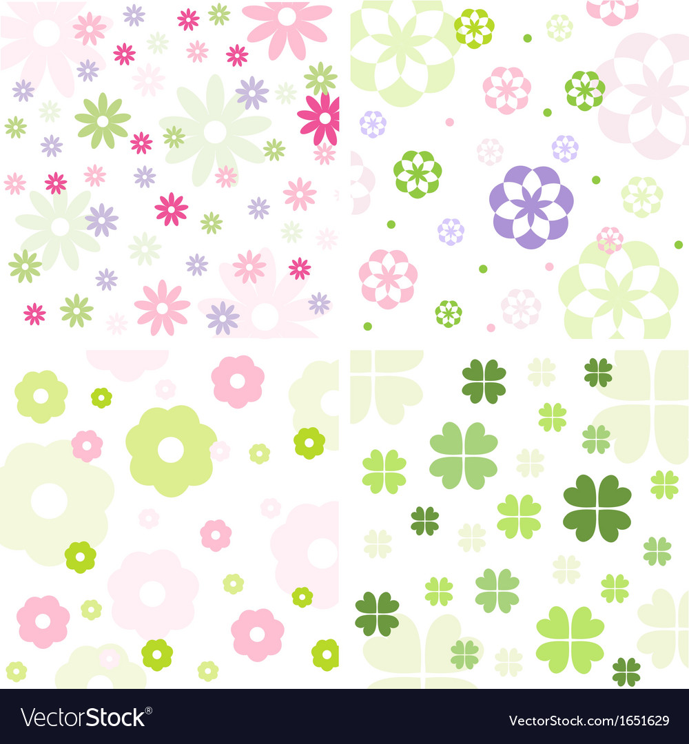 Floral pattern set vector | Price: 1 Credit (USD $1)