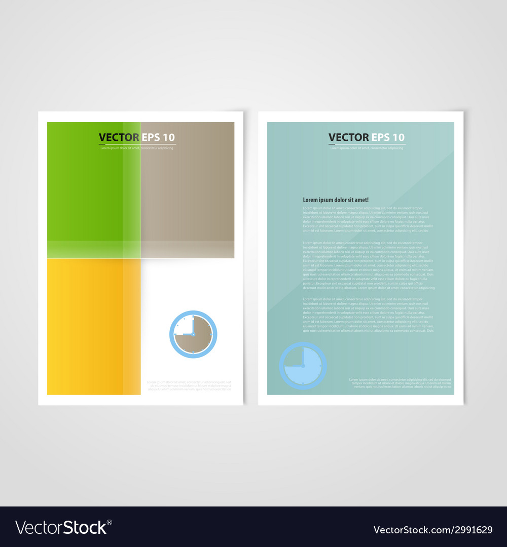 Flyer template back and front design vector   Price: 1 Credit (USD $1)