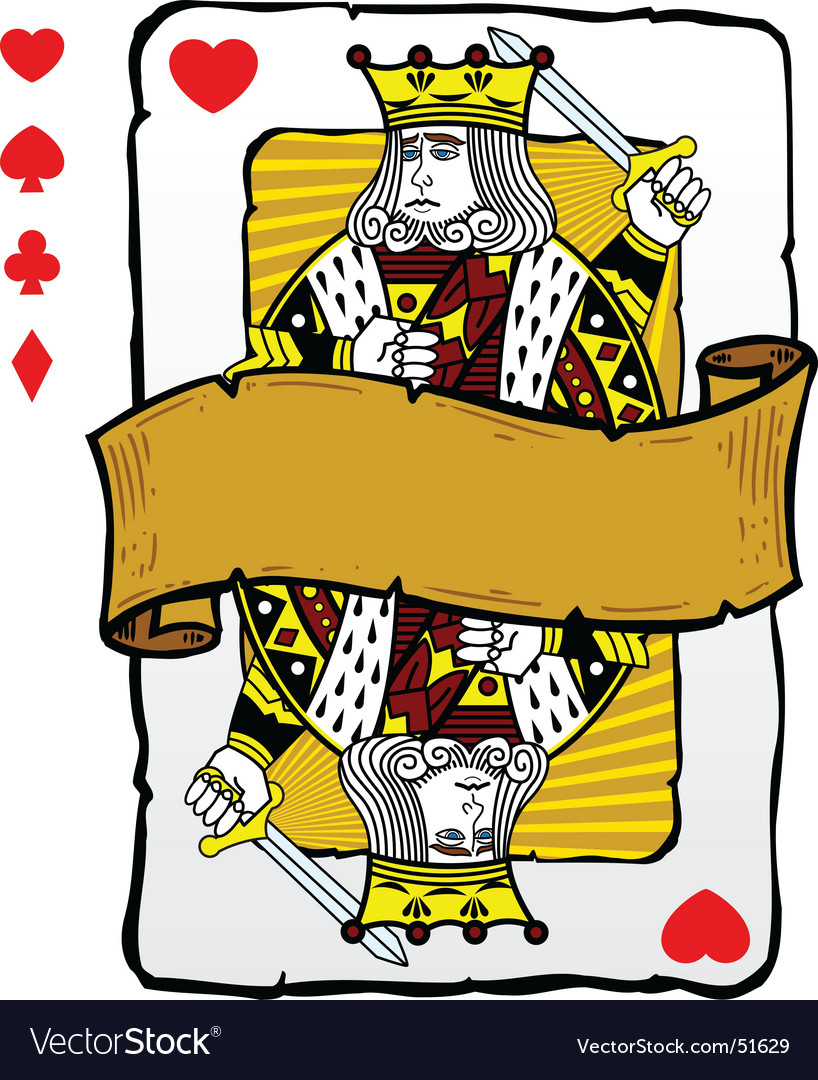 King playing card symbols vector | Price: 1 Credit (USD $1)