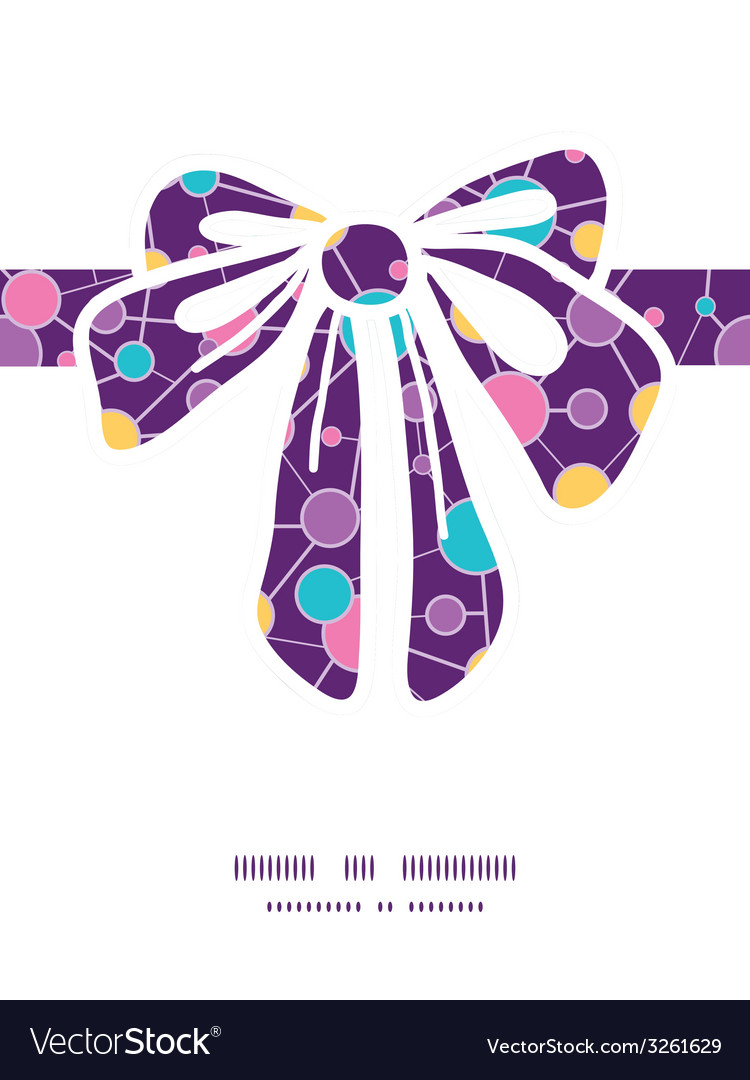 Molecular structure gift bow silhouette pattern vector | Price: 1 Credit (USD $1)