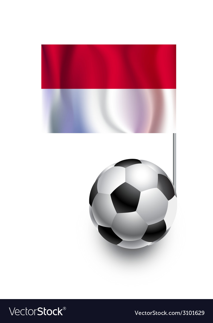 Soccer balls or footballs with flag of monaco vector | Price: 1 Credit (USD $1)