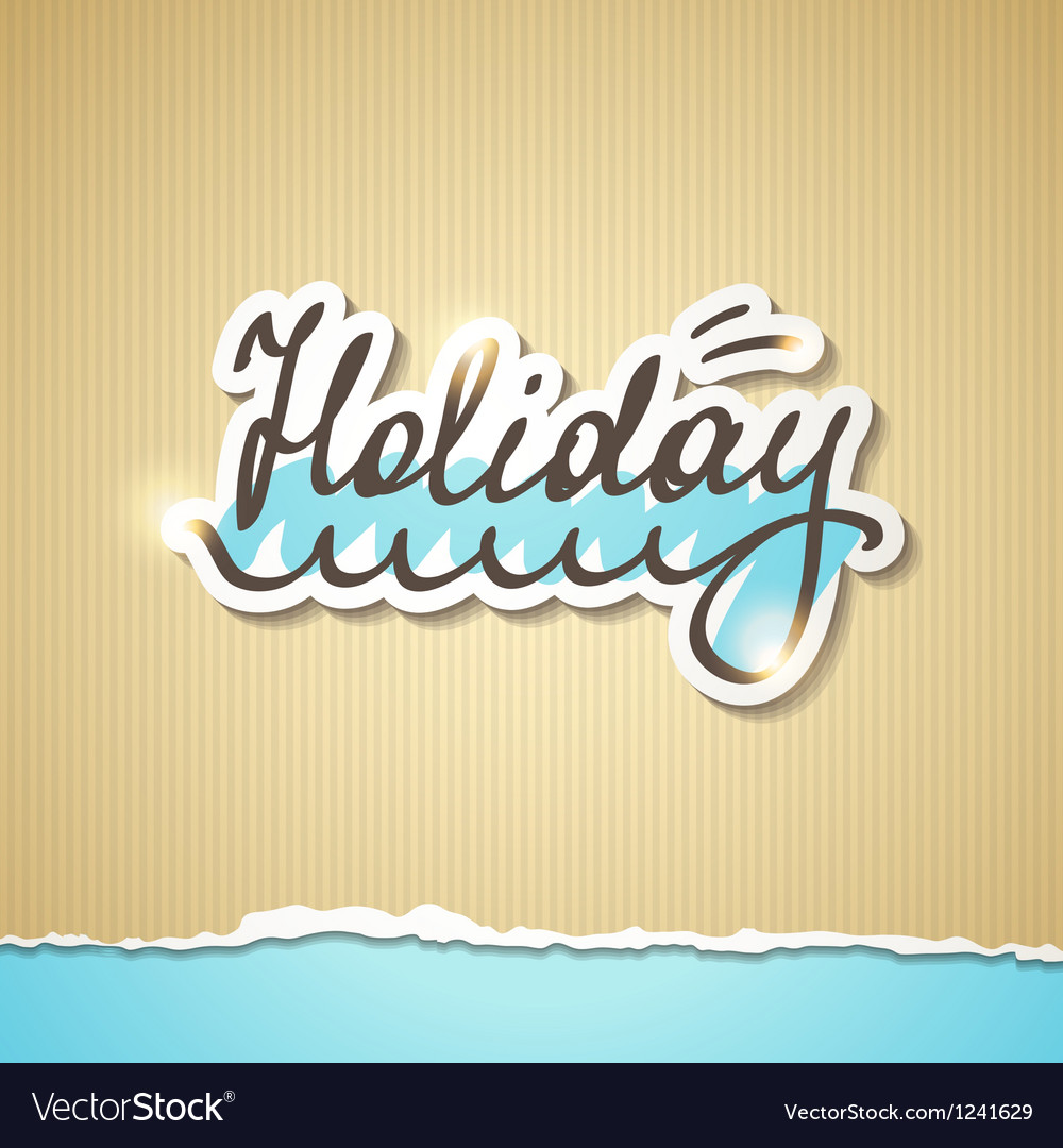 Summer holiday inscription eps 10 vector | Price: 1 Credit (USD $1)
