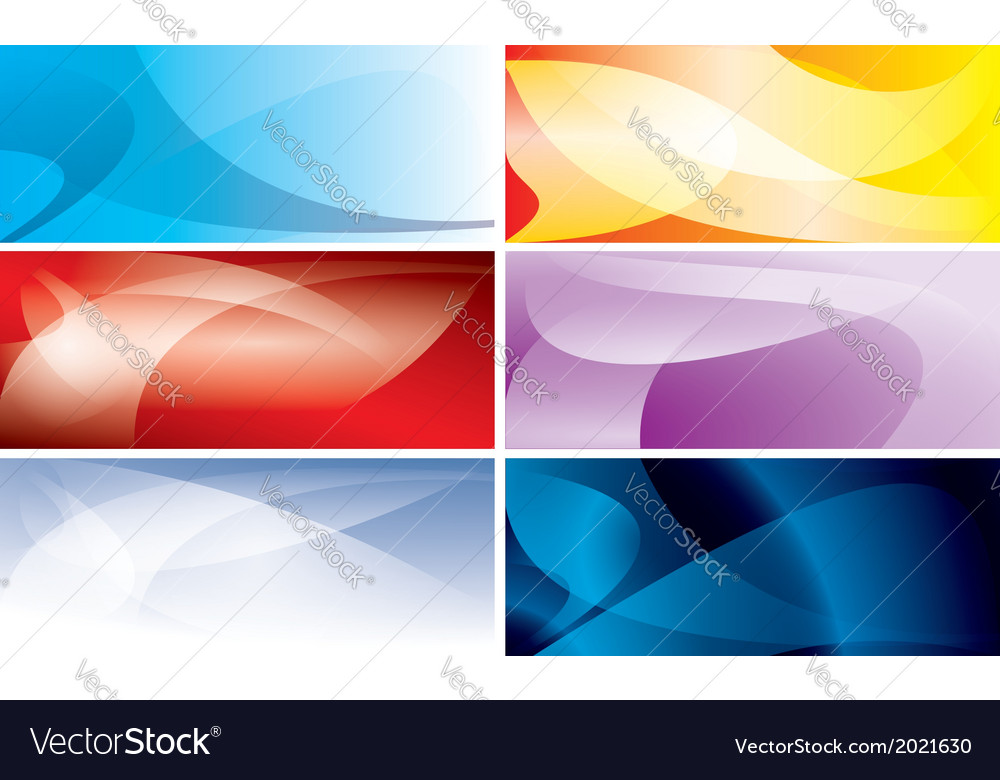 Abstract colorful backgrounds with wavy lines vector | Price: 1 Credit (USD $1)