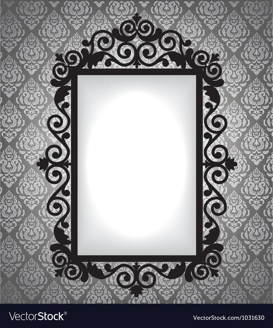 Antique frame vintage background vector | Price: 1 Credit (USD $1)