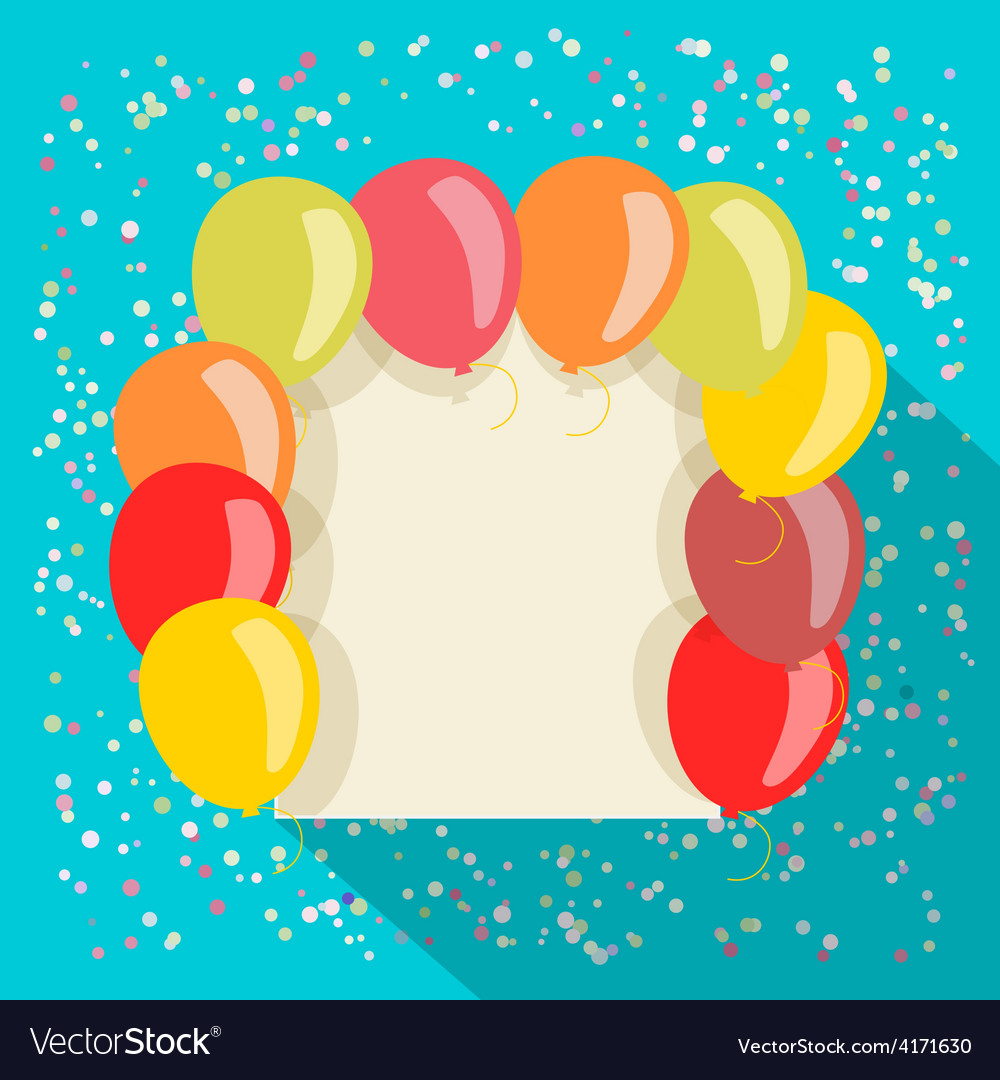 Balloons card vector   Price: 1 Credit (USD $1)