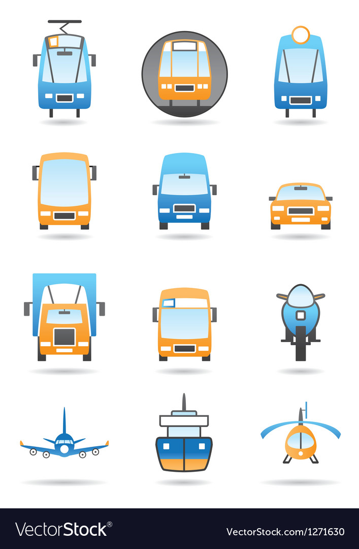 Different transportations icons set vector | Price: 3 Credit (USD $3)