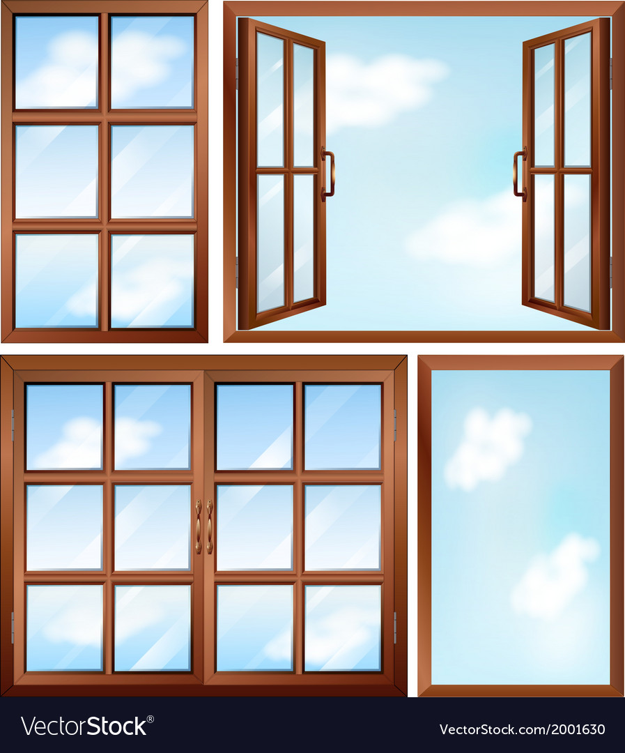 Different window designs vector