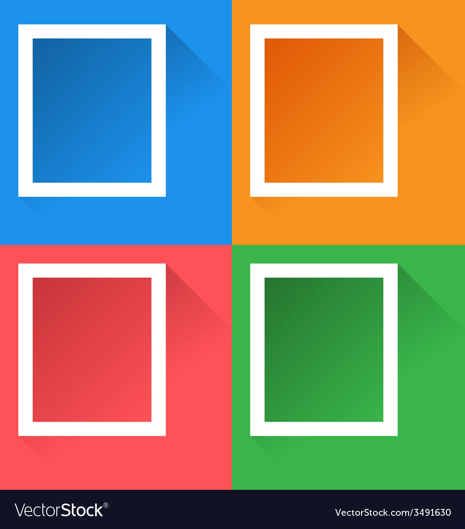 Frames with effect of long shadows vector | Price: 1 Credit (USD $1)