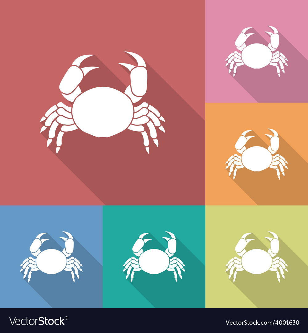 Icon of crab vector | Price: 1 Credit (USD $1)