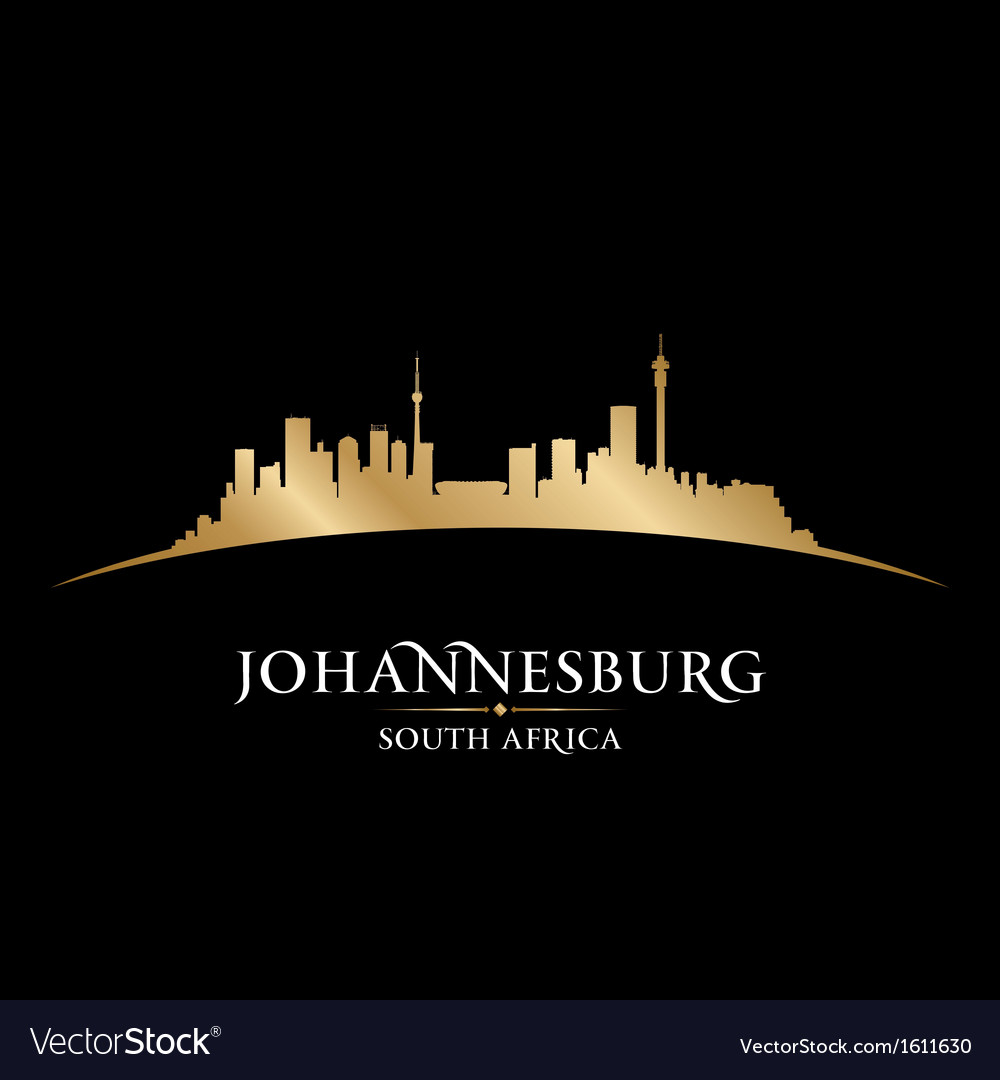 Johannesburg south africa city skyline silhouette vector | Price: 1 Credit (USD $1)