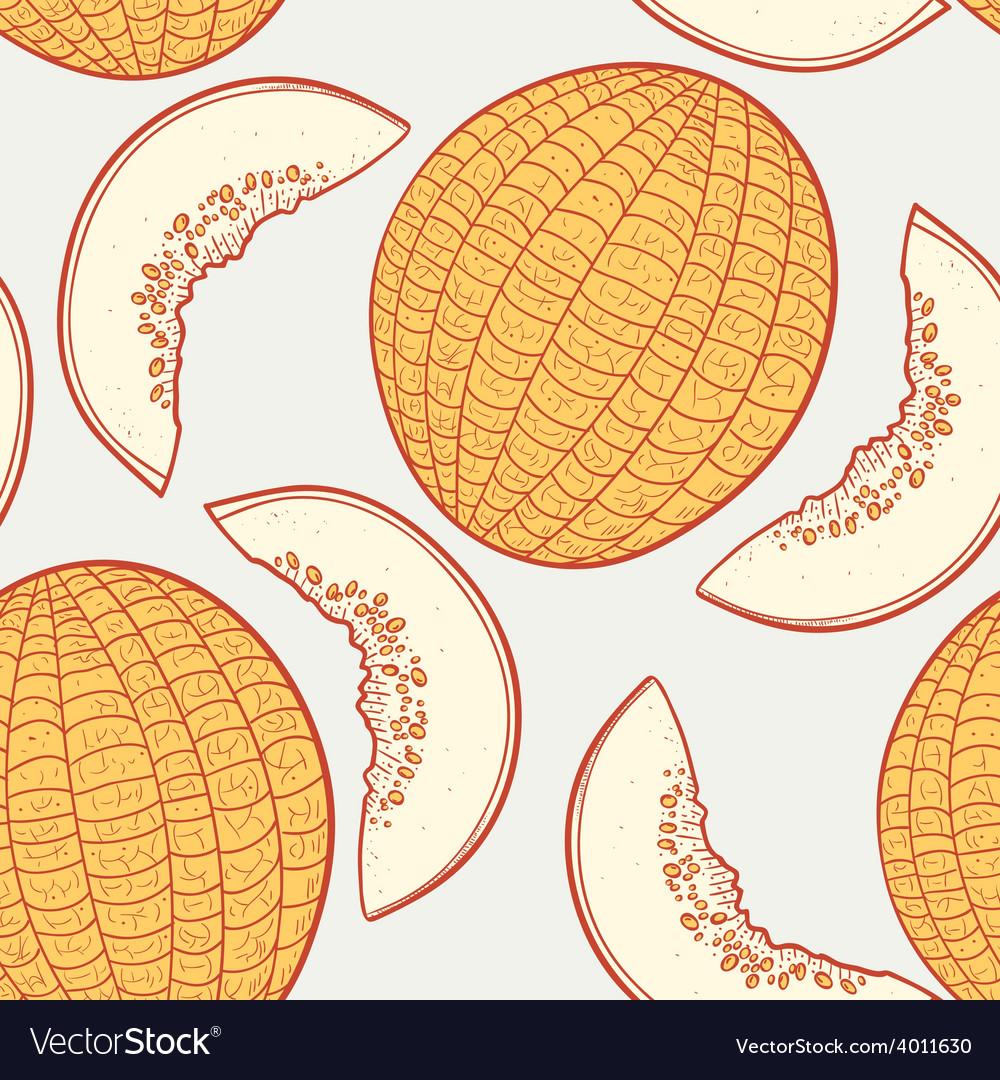 Melon seamless pattern vector | Price: 1 Credit (USD $1)