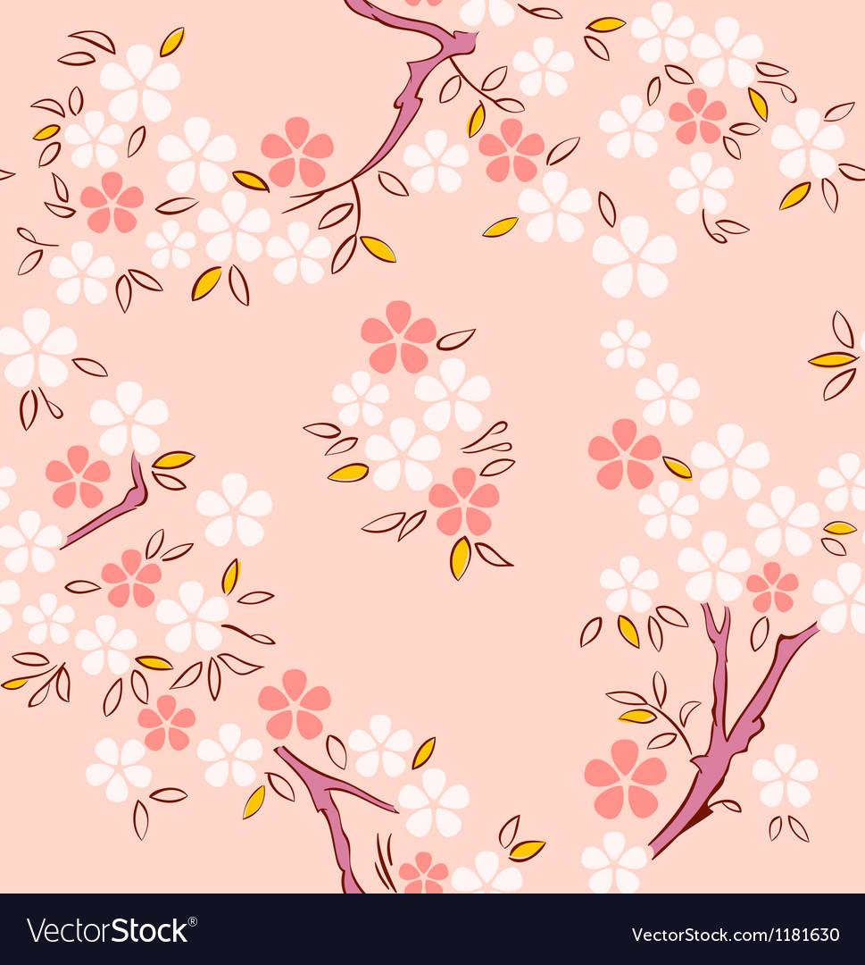 Sakura seamless pattern vector | Price: 1 Credit (USD $1)