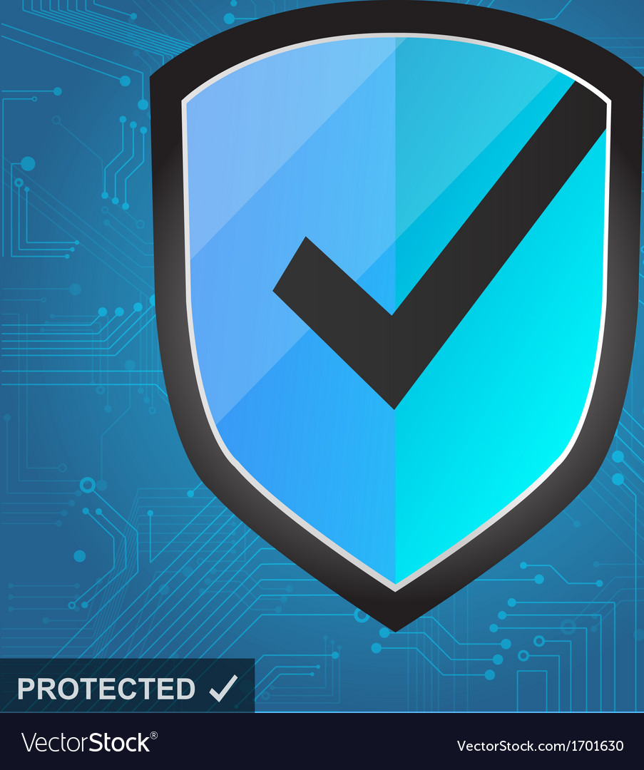 Shield protection - secure internet vector | Price: 1 Credit (USD $1)
