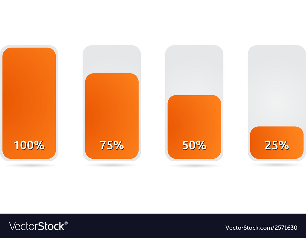 Statistic graph with orange vector | Price: 1 Credit (USD $1)