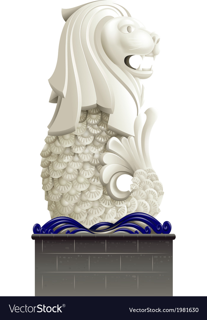 The statue of merlion vector | Price: 1 Credit (USD $1)