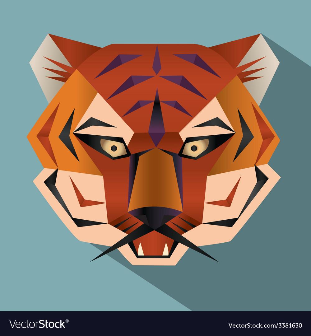 Tiger face icon vector | Price: 1 Credit (USD $1)