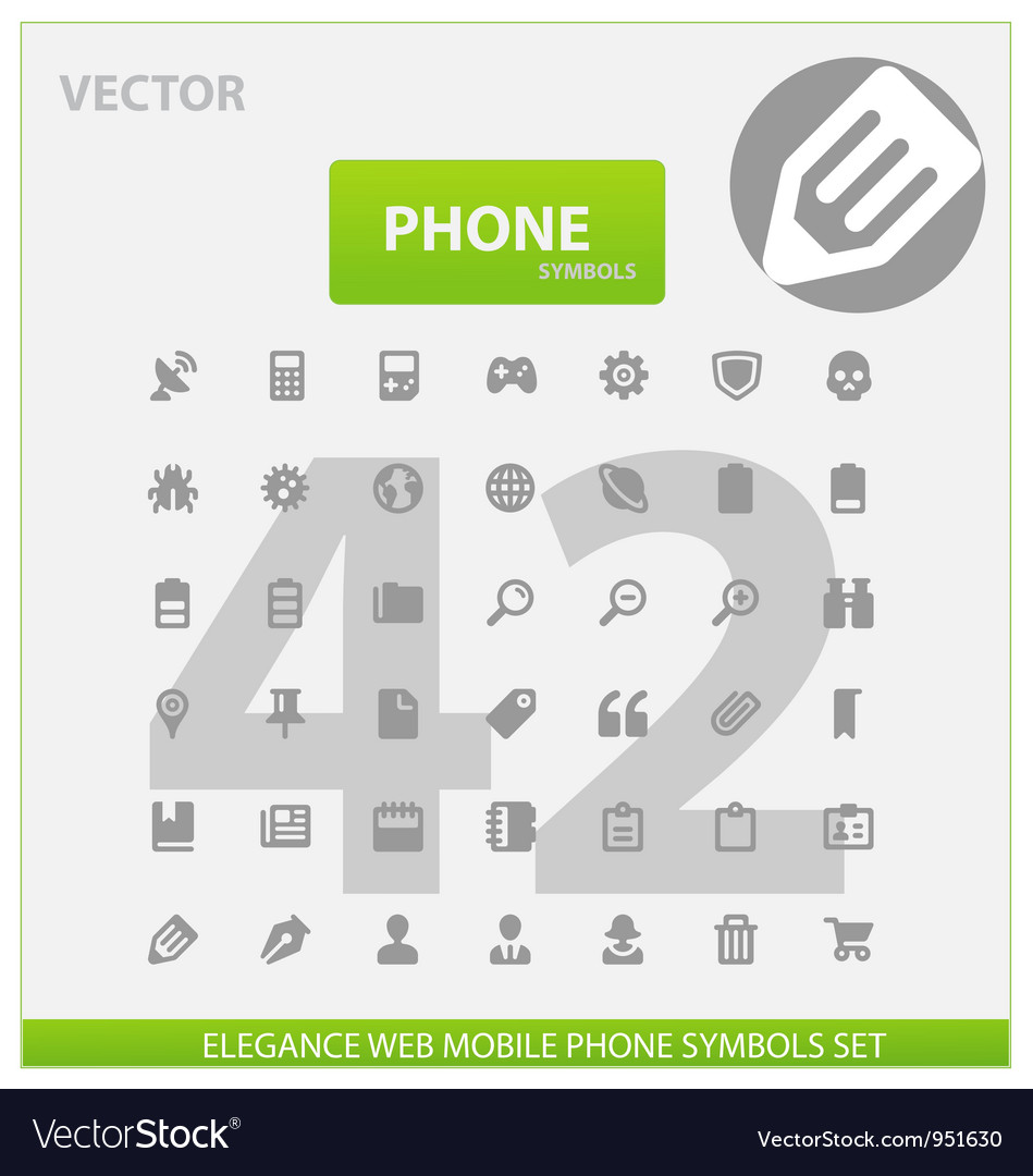 Web and phone universal outline icons vector | Price: 1 Credit (USD $1)