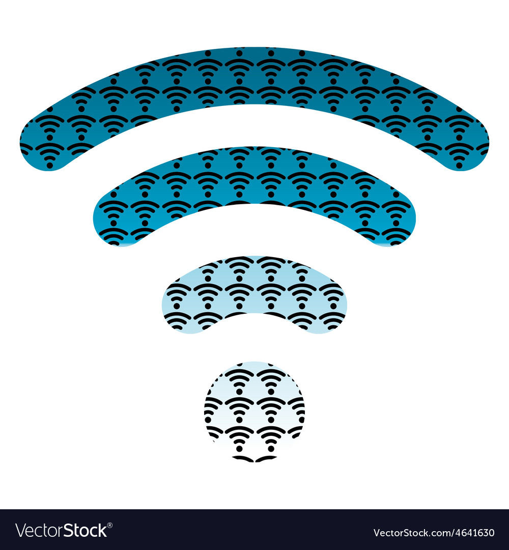 Wifi wireless hotspot internet signal symbol icon vector | Price: 1 Credit (USD $1)