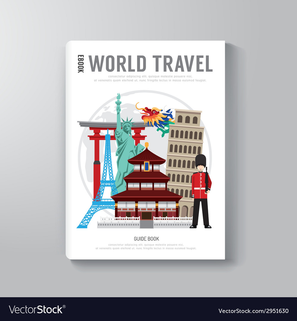 World travel business book template design vector   Price: 1 Credit (USD $1)