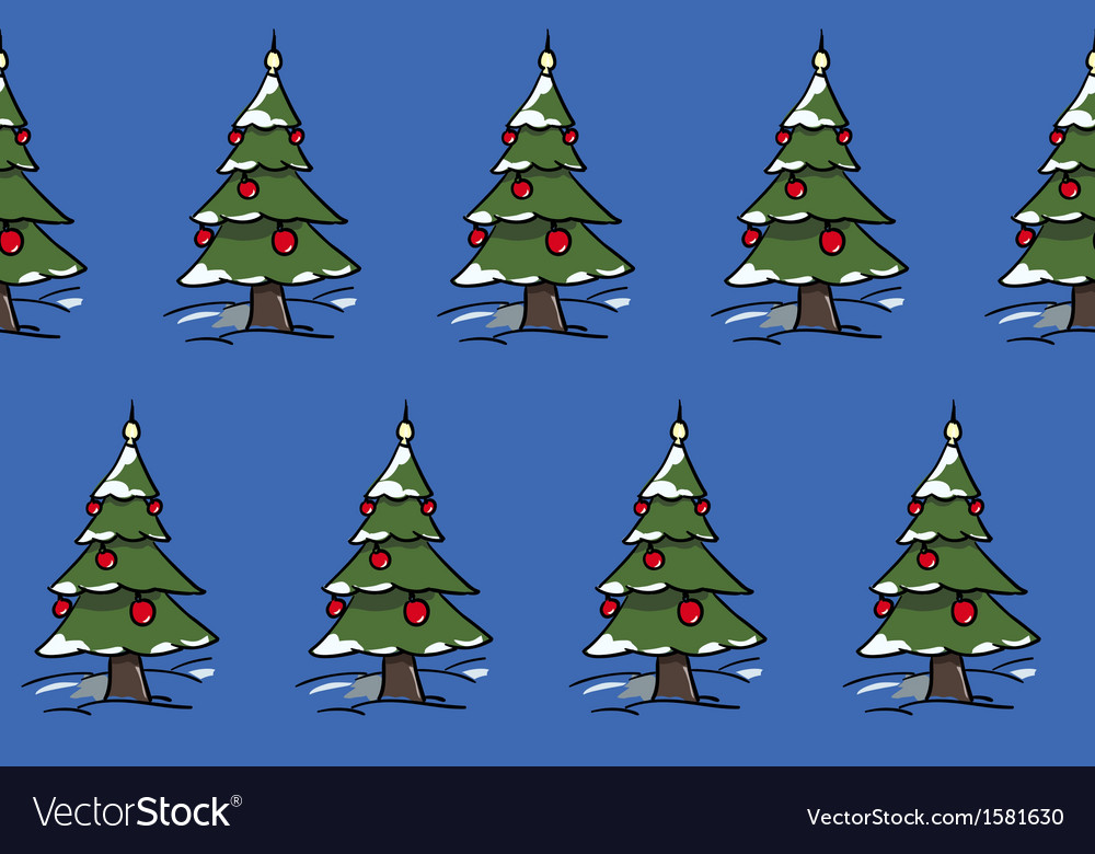 Xmas trees forest vector | Price: 1 Credit (USD $1)