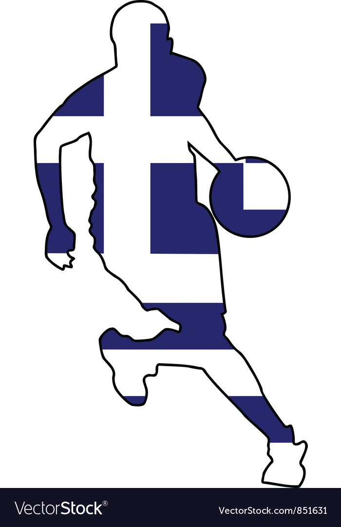 Basketball colors of greece vector | Price: 1 Credit (USD $1)