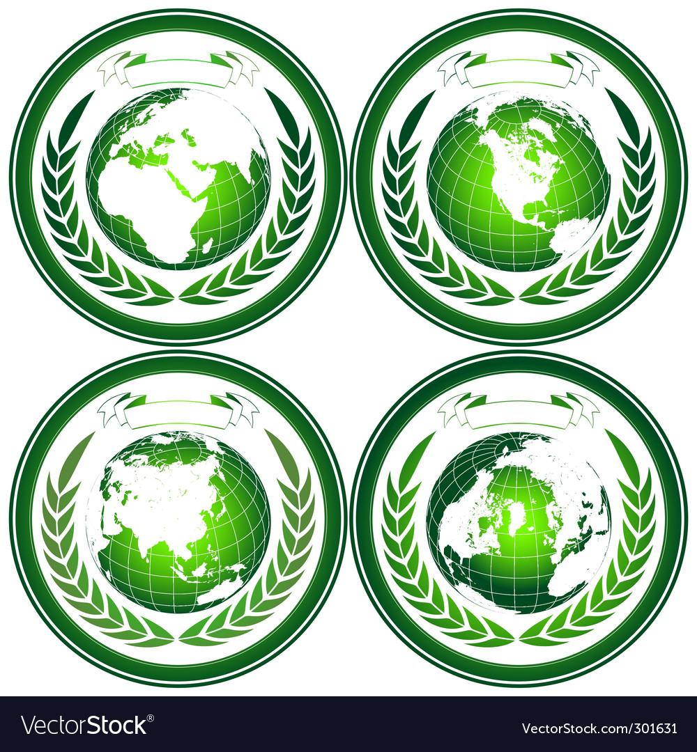 Eco globes vector | Price: 1 Credit (USD $1)