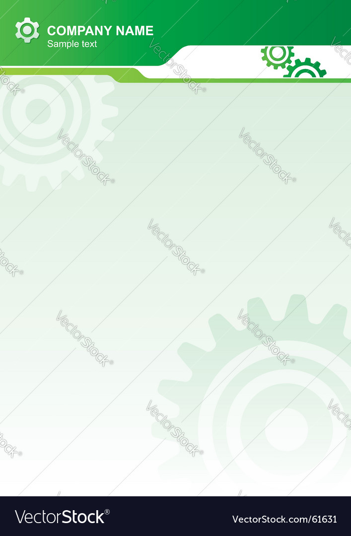 Industrial letterhead vector | Price: 1 Credit (USD $1)