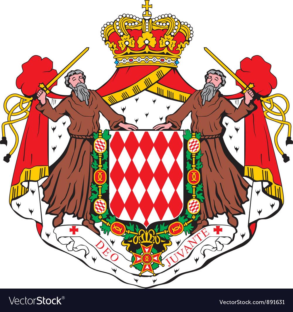 Monaco coat-of-arms vector | Price: 1 Credit (USD $1)