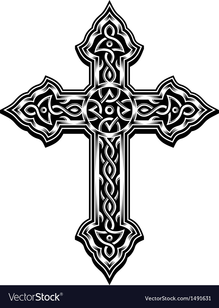 Ornate christian cross vector | Price: 1 Credit (USD $1)