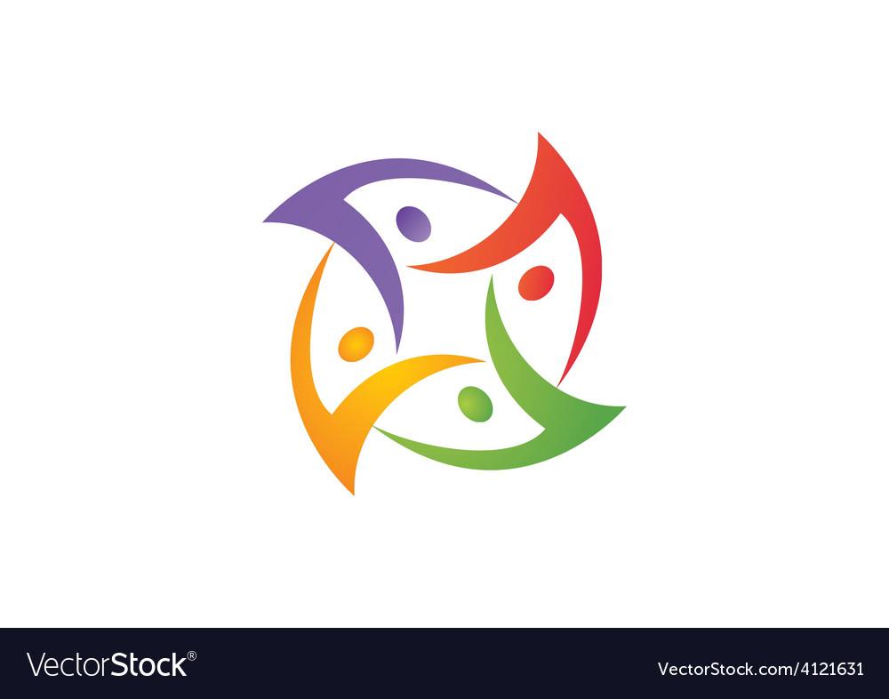 People group circular teamwork logo vector   Price: 1 Credit (USD $1)