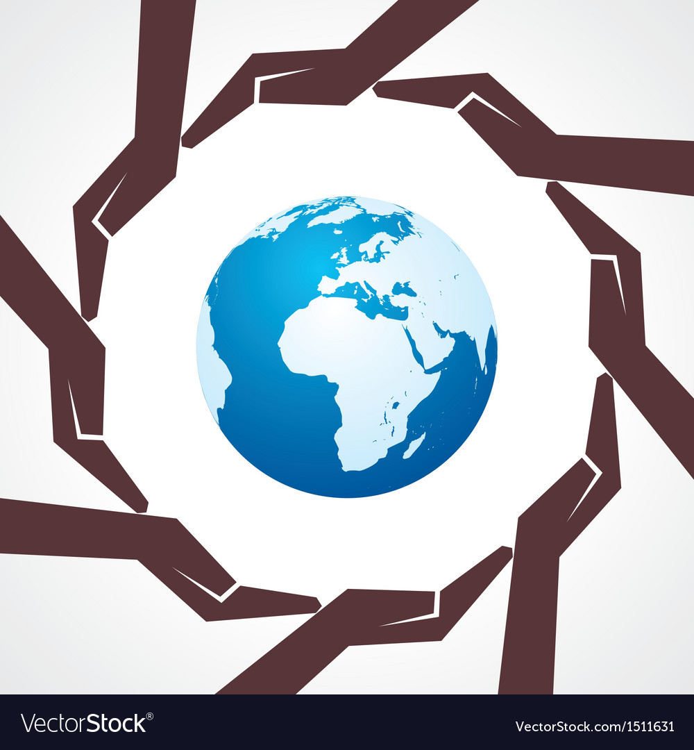 Save earth concept vector | Price: 1 Credit (USD $1)