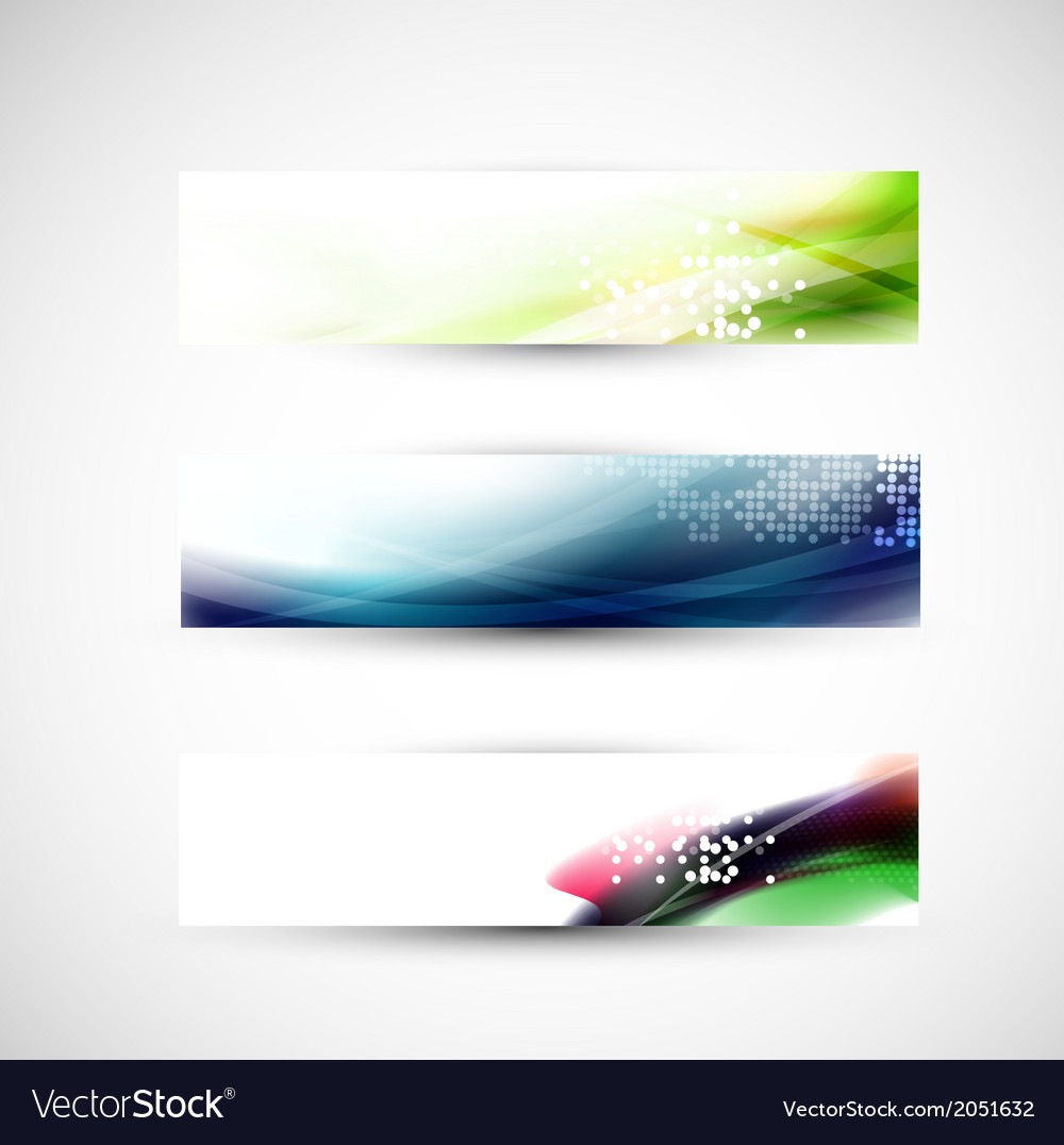 Abstract colorful flow banner template vector | Price: 1 Credit (USD $1)