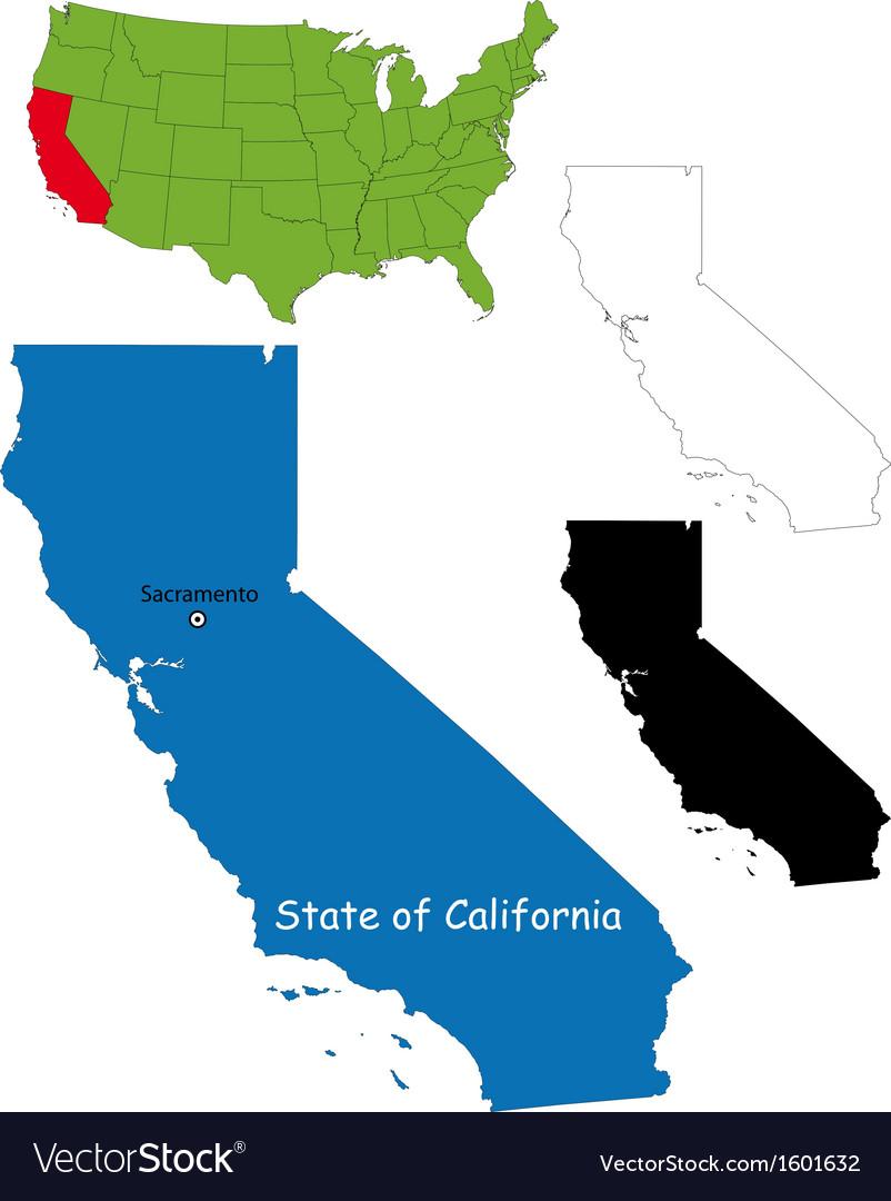 California map vector