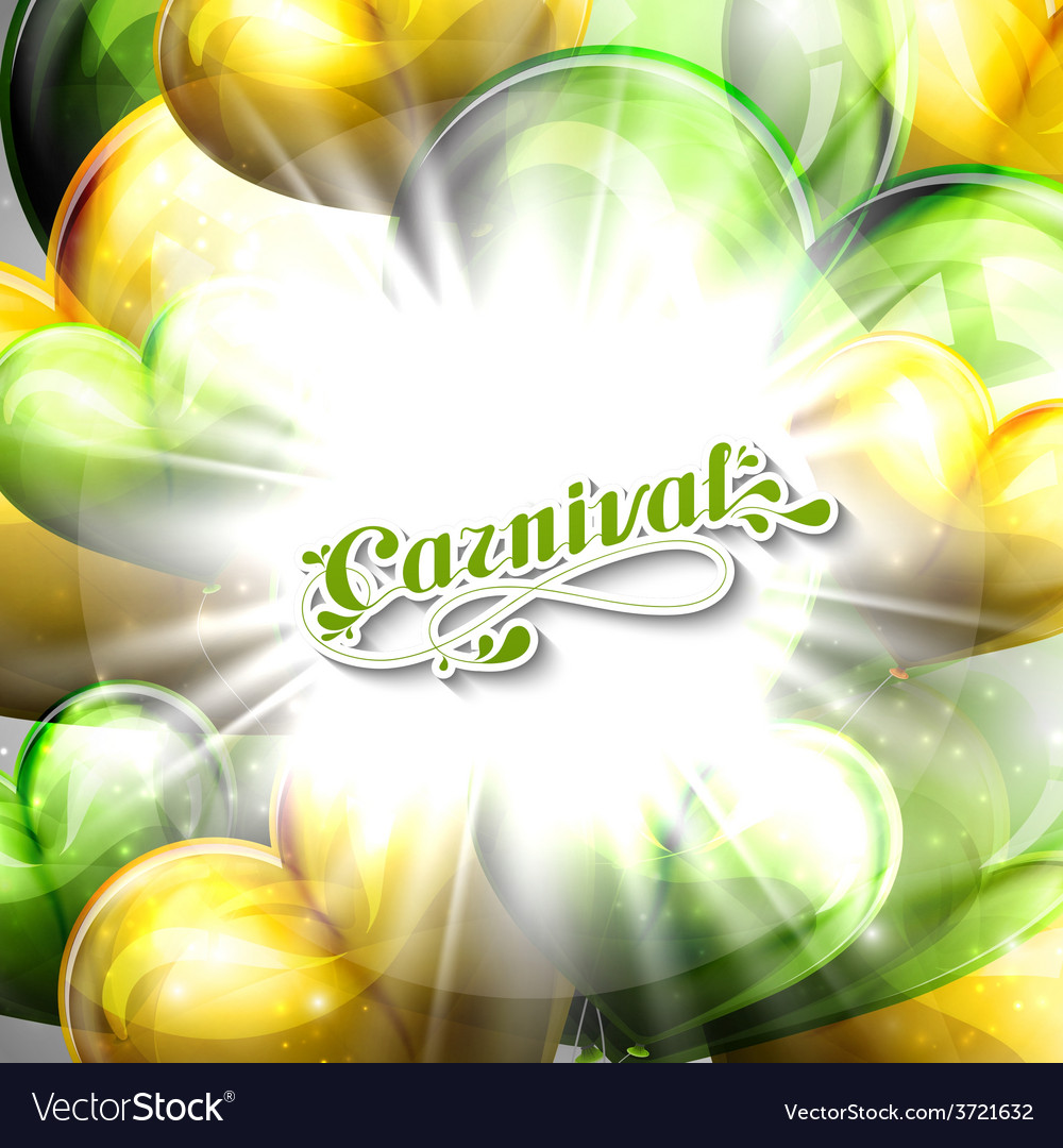 Carnival lettering label and balloons vector   Price: 1 Credit (USD $1)
