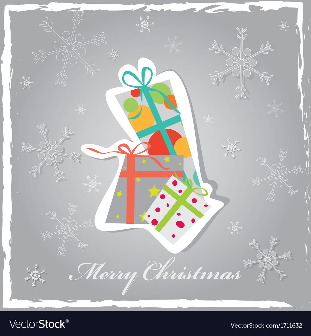 Christmas background with gift boxes vector | Price: 1 Credit (USD $1)