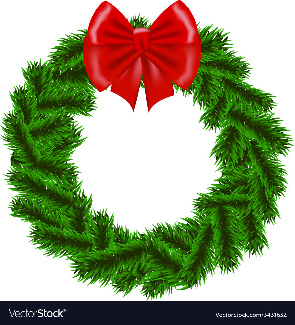 Christmas fir tree wreath vector | Price: 1 Credit (USD $1)