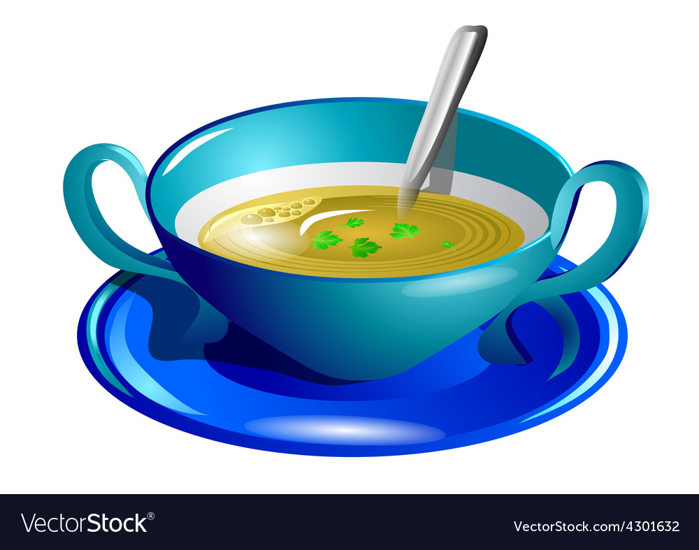 Clear soup vector | Price: 1 Credit (USD $1)